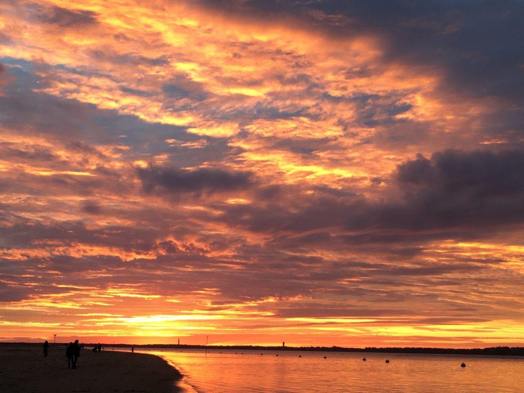 En novembre, de belles lumières sur le Bassin